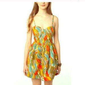 BB Dakota Bustier Paintstroke Cotton A Line Dress